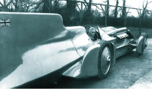 Malcolm Campbell in his LSR-setting Bluebird of 1935.