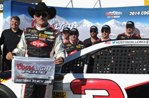 Rookie Austin Dillon made the early headlines, mainly because of his car number. (Photo courtesy NASCAR)