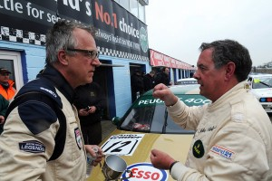 Watts and Cleland – former stars back in their cars. Photo: Peter Still, PSP Images.